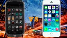 Сравнение Knight XV Quad-Core и iPhone 5s